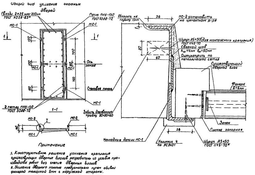 укрепление входной двери установка